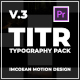 TITR   Dynamic Typography Pack   Premiere Pro