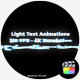 Light Text Animations