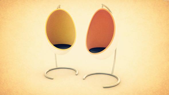 Rockin Egg Chair Model
