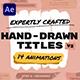 Hand Drawn Brush Titles