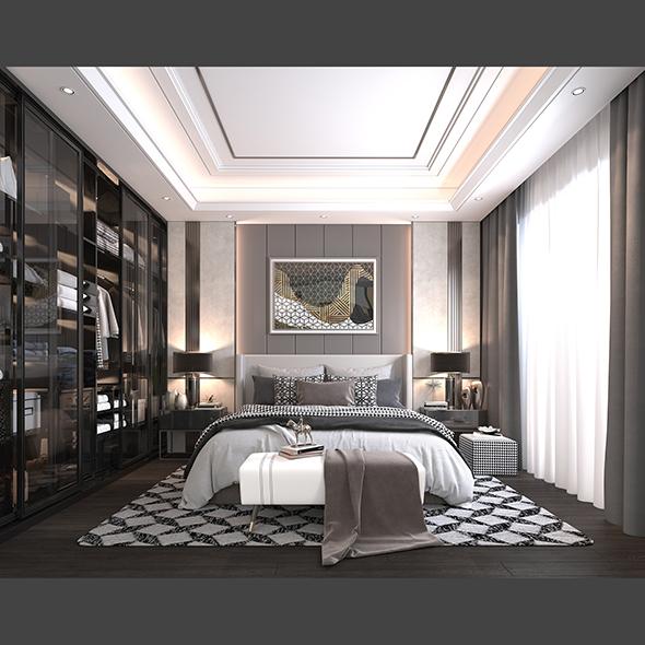 Modern Bedroom Interior Scene 2