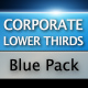Corporate Lower Thirds Blue Pack