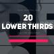 Modern Minimal Lower Thirds