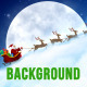 Santa Claus' Sleigh Background