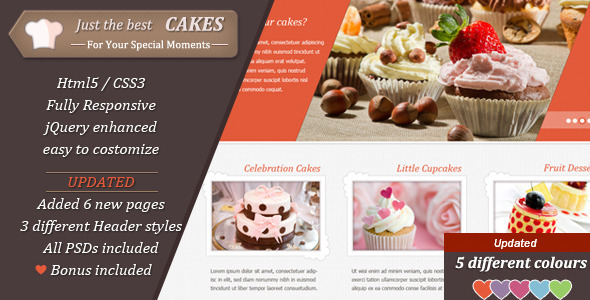 Cake Website Templates From Themeforest