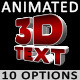 3D Animated Text