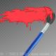 Paint brush stroke