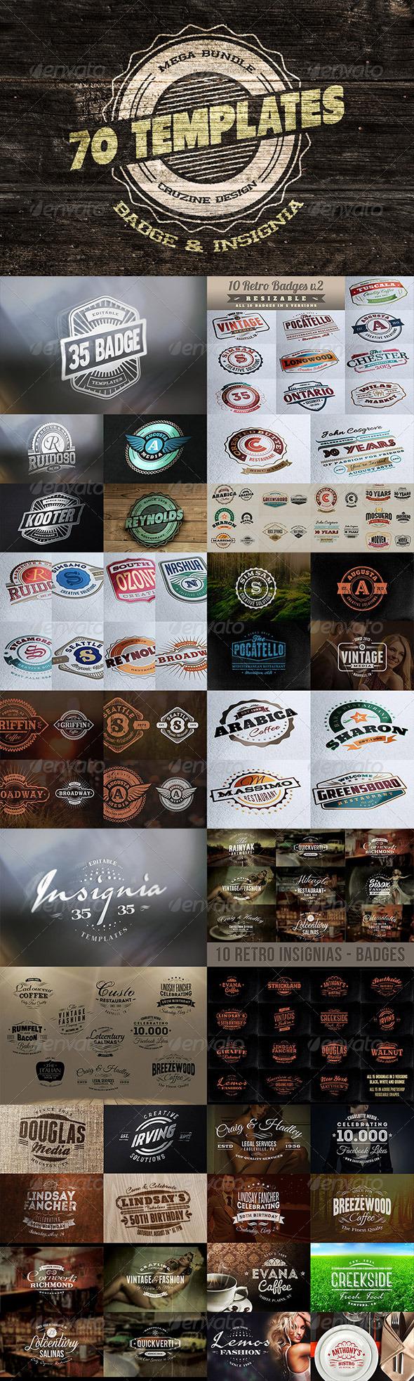 http://graphicriver.net/item/10-retro-insignias-badges/4892998