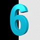 3D Numbers Blue