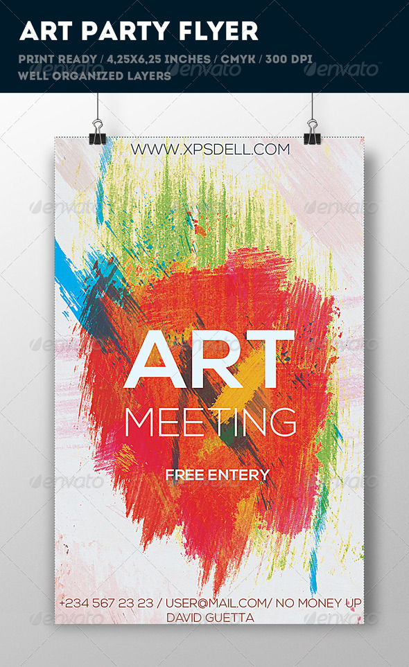 art flyer stationery and