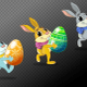 Easter bunnies walk cycles