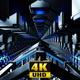High Speed Silver Tunnel With Illumination 4K