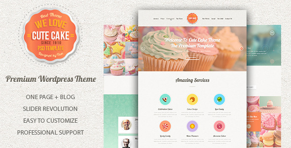Cake Templates From Themeforest