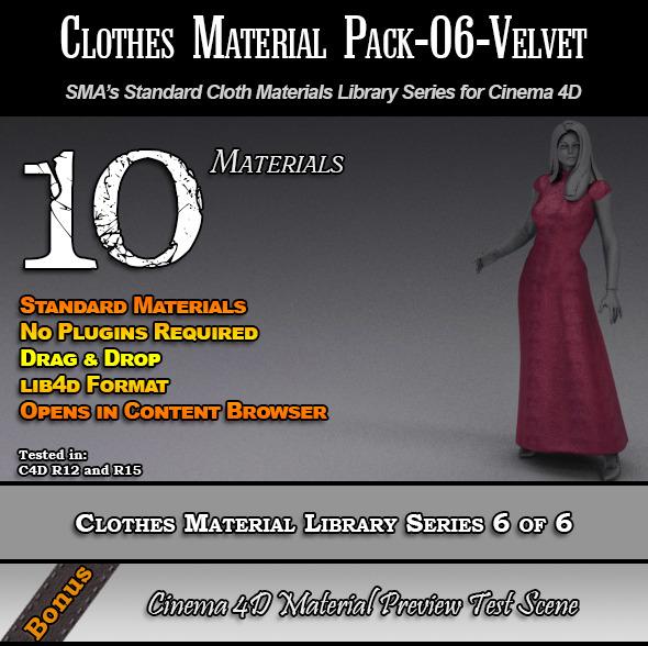 Standard Clothes Material Pack-06-Velvet for C4D