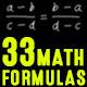 33 Math Formulas