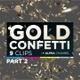 3D Gold Confetti Pack 2