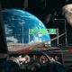 Retro Space Drive Synthwave VJ Loop