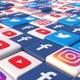 Social Media Blocks Background