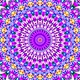 Bright abstract light governing full color, kaleidoscope,purple background