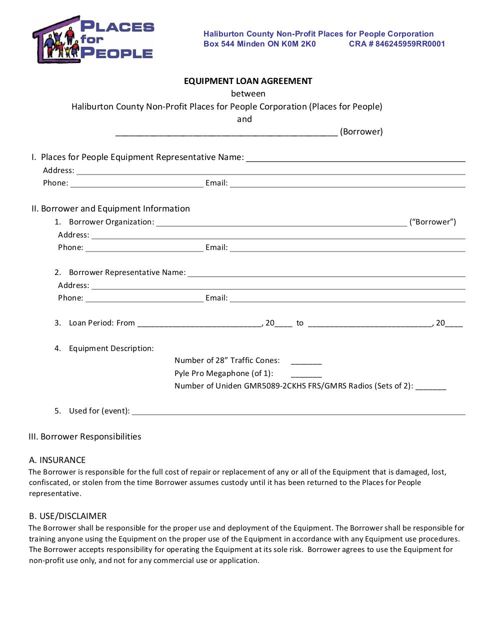 Employee Loan Agreement Template Canada Free Resume Pdf