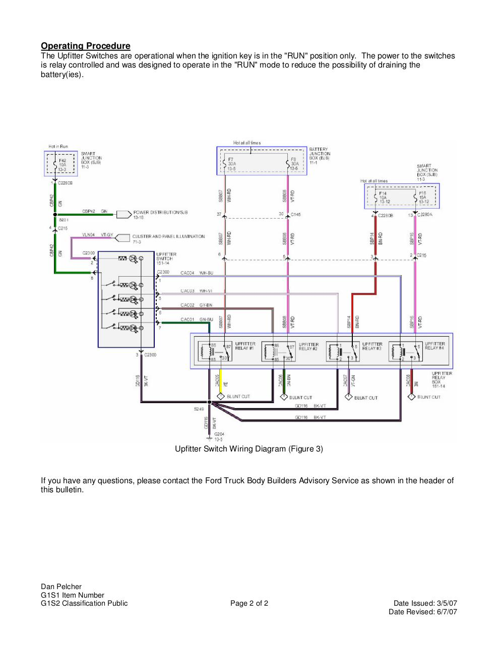 2015 Ford Upfitter Switches Wiring Diagram