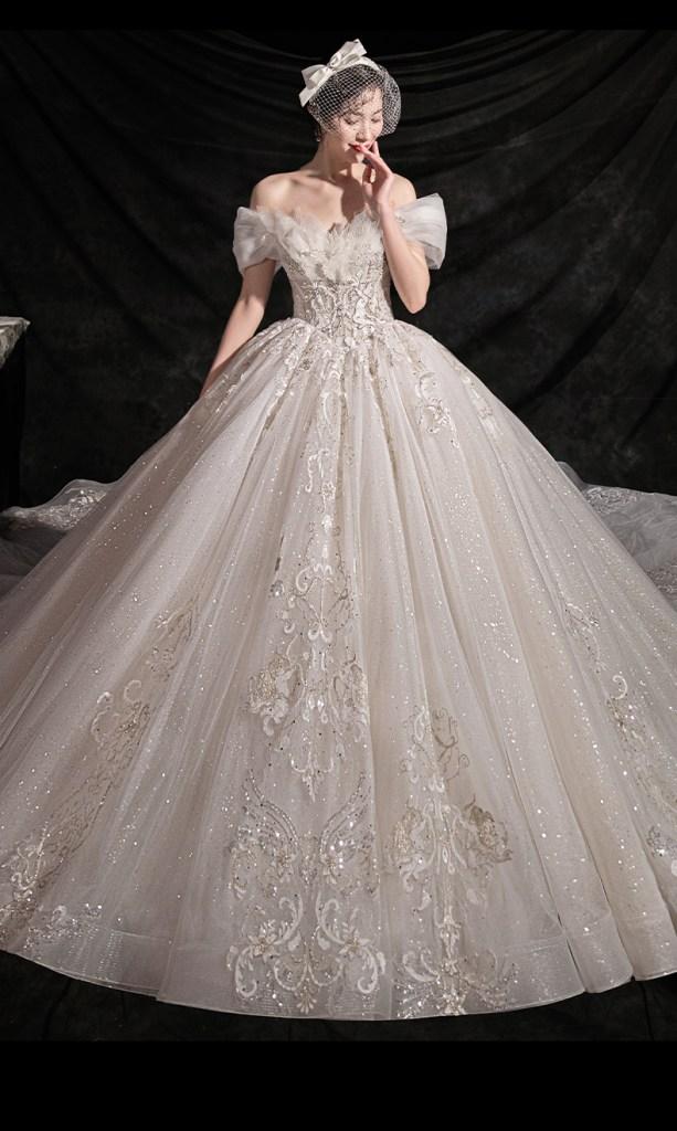 ảnh váy cưới đẹp lấp lánh