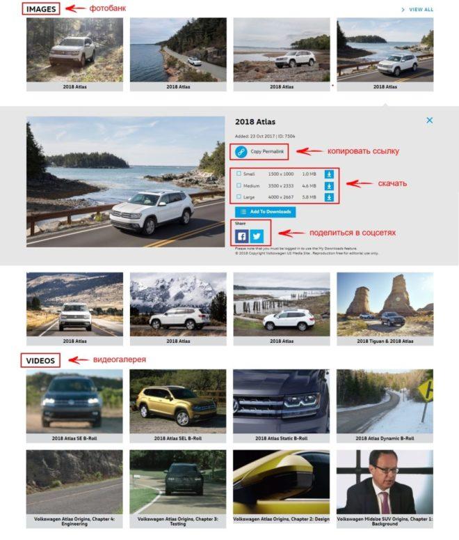 Пресс-центр Volkswagen: медиагалерея