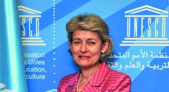 លោកស្រី អៃរិណា បូកូវ៉ា (Irina Bokova) ប្រធានអង្គការ UNESCO ។
