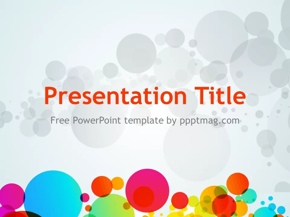 Colored Circles PowerPoint Template  Prezentr