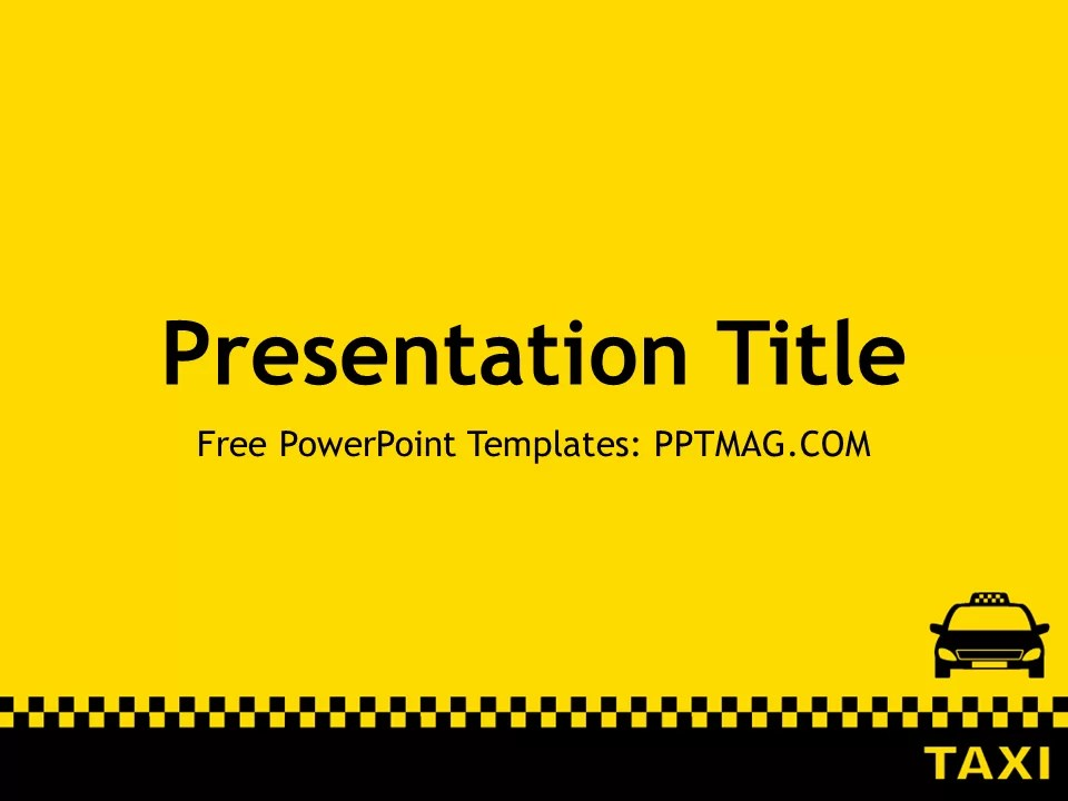 Free Taxi PowerPoint Template PPTMAG
