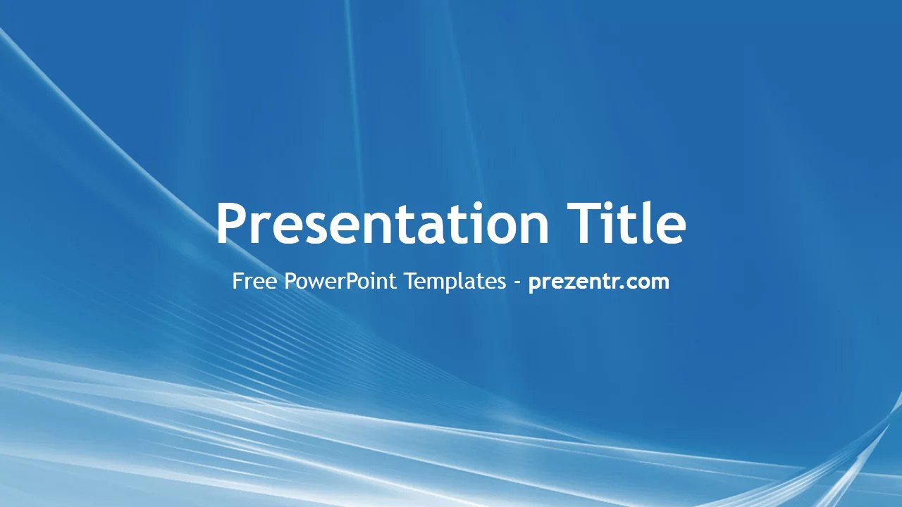 Free Blue and White PowerPoint Template  Prezentr