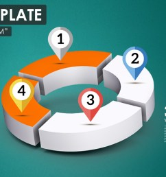 3d quarter chart circle diagram prezi template [ 1500 x 844 Pixel ]