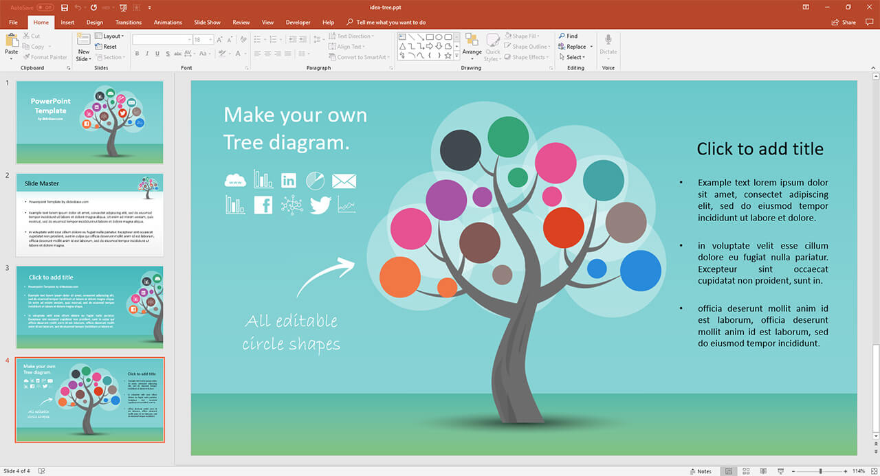 hight resolution of  bonus tree diagram powerpoint template included