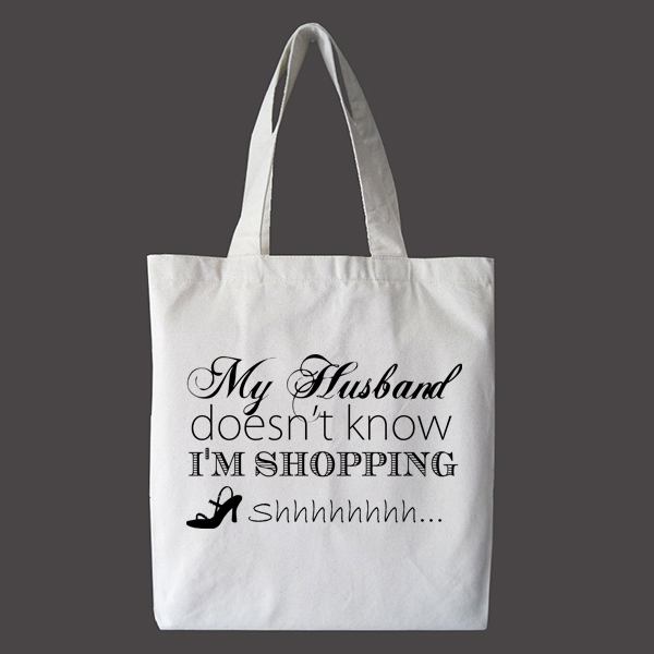 Husband Doesnt Know Im Shopping Tote Bag Close Up