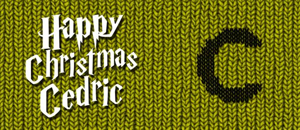 Happy Christmas Cedric Design