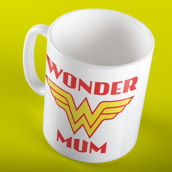 WONDER MUM SUPERHERO PERSONALISED MUG