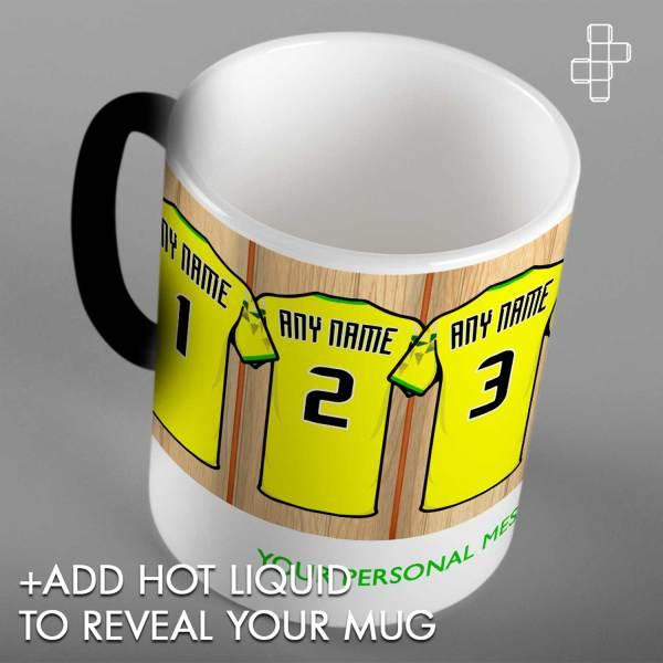 Personalised Norwich City Dressing Room Mug