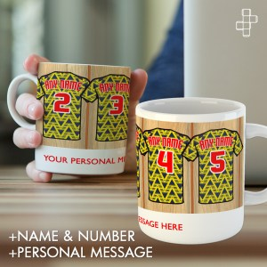 Personalised Retro 1991 Arsenal Away Dressin Room Shirt Mug