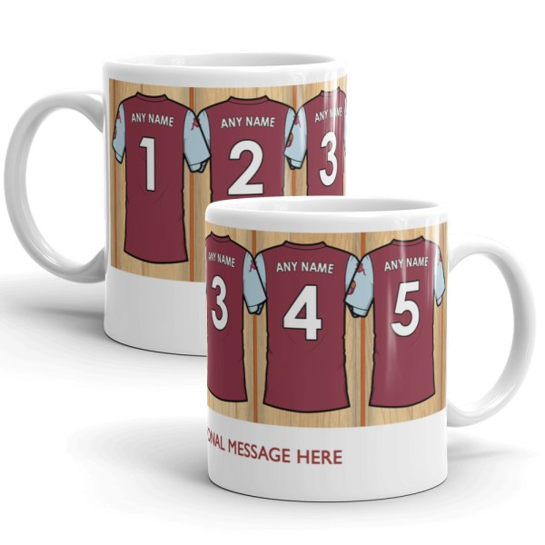Personalised Aston Villa 2020 Football Mug