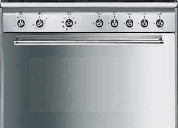 Cucine A Gas Con Forno Elettrico Smeg   Smeg Cucina Gas 6 Fuochi ...