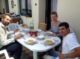 lunch at grandmothers with host Stania and Pablo our colleague :) (strawberry dumplings mnam)