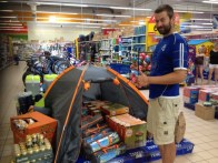 our tent in Tesco :) we may have to come back soon...