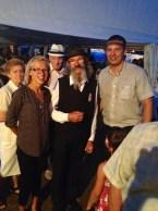 Nastya with the mayor and Rózsa Sándor's descendant