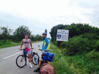 Darko, our host in Slavonski Brod picking us up from the road. Hvala!