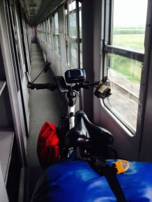 .. so we took a train