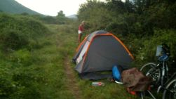 camping in a blackberry valley