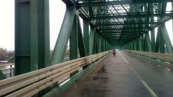 a VERY long bridge across Sava