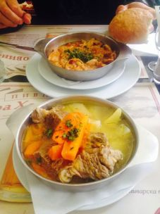 lamb and stomach - yumm