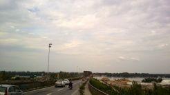leaving Beograd over a 2km Danube bridge - thats a long bridge!