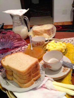 breakfast - milk is still warm